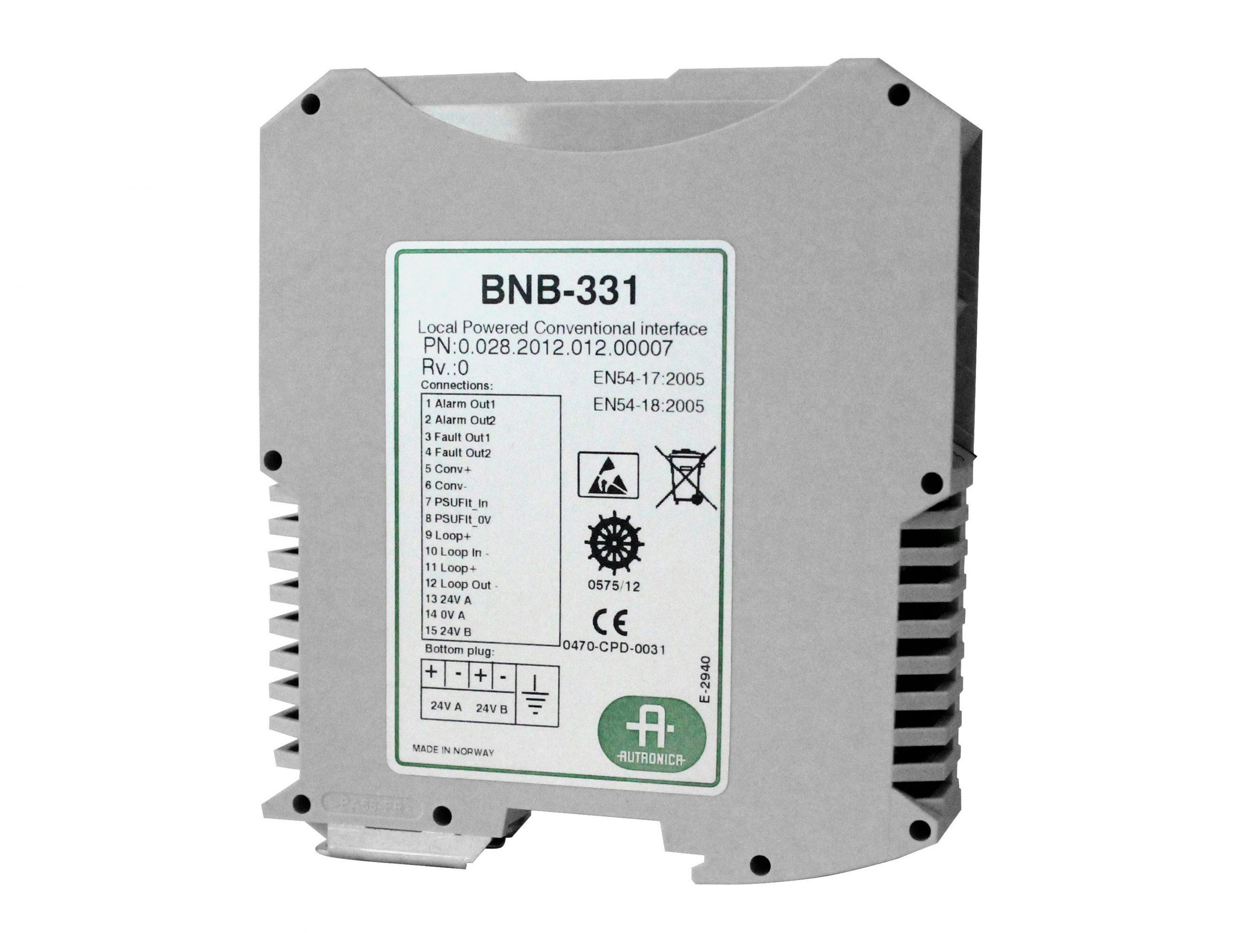 Interface conventionele lussen BNB-331