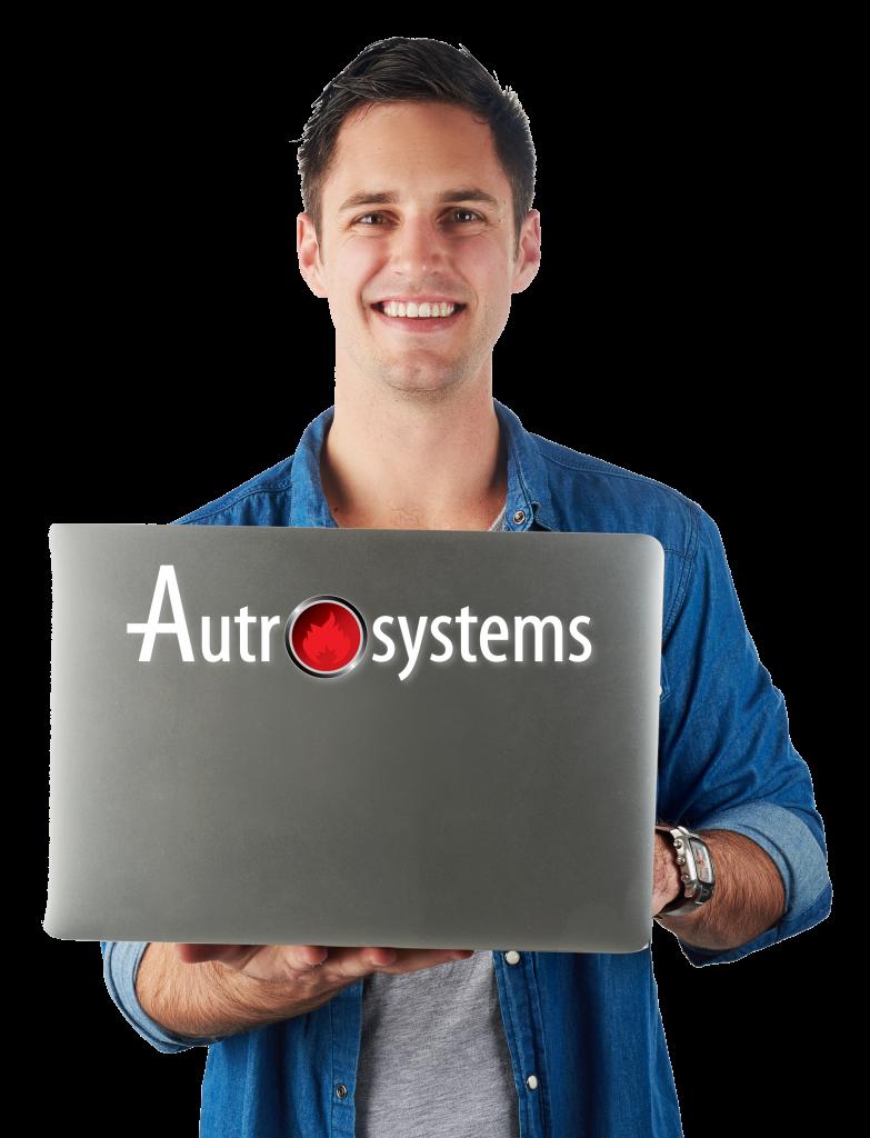 man laptop autrosystems middel